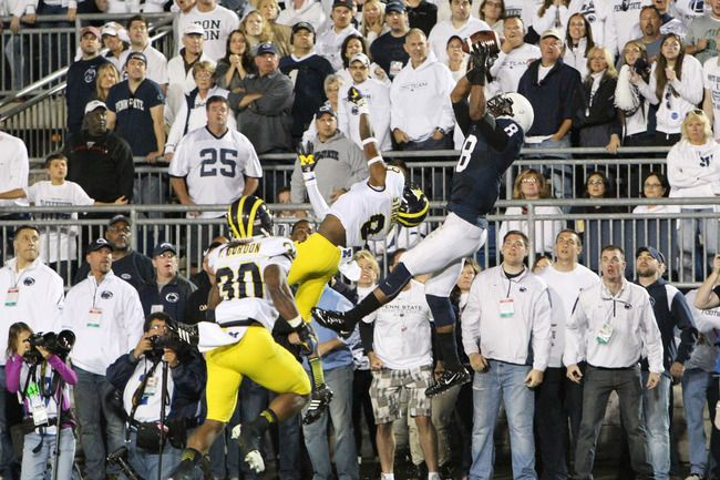 Allen Robinson is leading the conference in catches and yards and is tied for second in receiving touchdowns. Despite missing a game, Brandon Felder is ranked in the top 20 in each of those categories.  Penn State's tight ends lead the Big Ten in catches.  Robinson has a legitimate shot at becoming Penn State's first Biletnikoff Award winner since Bobby Engram and this group has played a huge part in the success of it's freshman quarterback. There isn't much criticism to go around here.