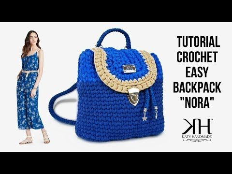 Tutorial Zaino Ad Uncinetto Nora Backpack Crochet Diy Bag