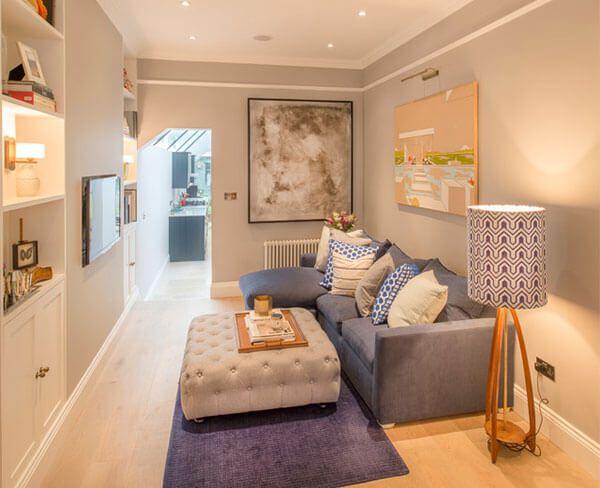 Die besten 25+ Grauer couch dekor Ideen auf Pinterest Neutrale - skandinavischer landhausstil wohnzimmer
