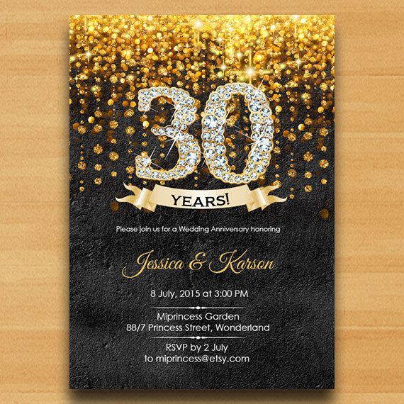 Wall texture, invitation, Anniversary Invitation, Wedding Anniversary 30th 40th…