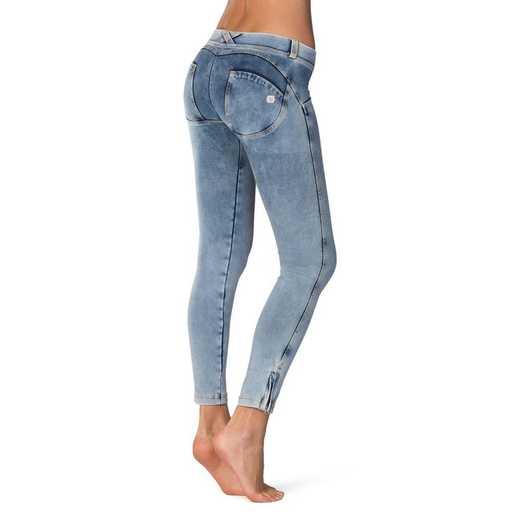 WR.UP® SHAPING EFFECT/ Ankle Length Denim Stone Wash