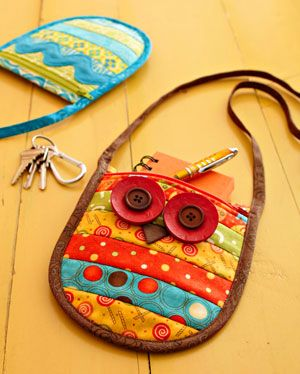 patchwork owl bag...would be a nice gift for a little girl