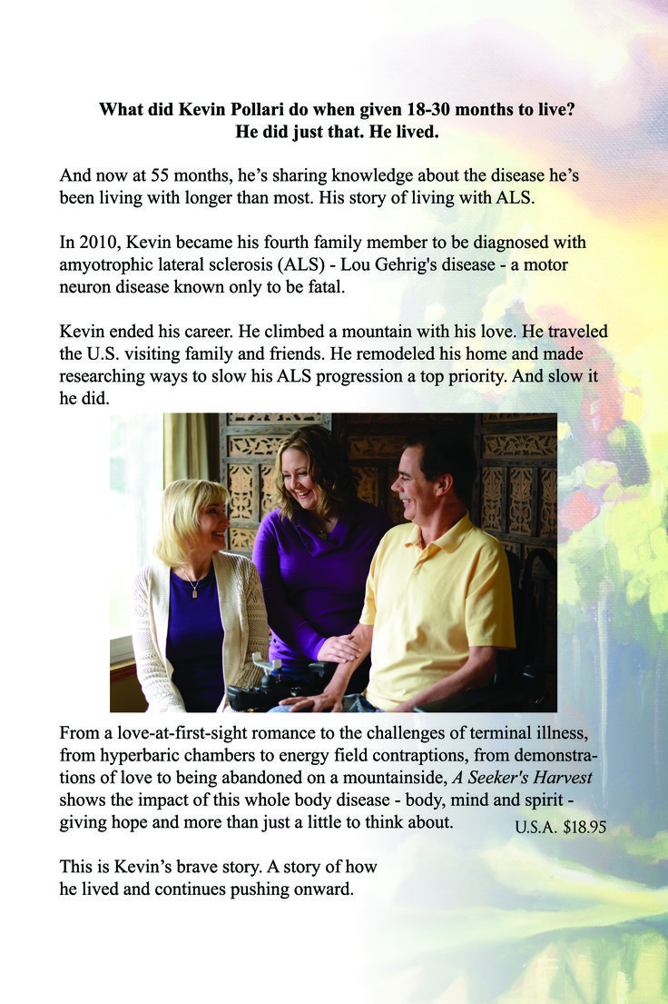 An insightful and inspirational ALS life story. https://www.createspace.com/5049288?ref=1147694&utm_id=6026