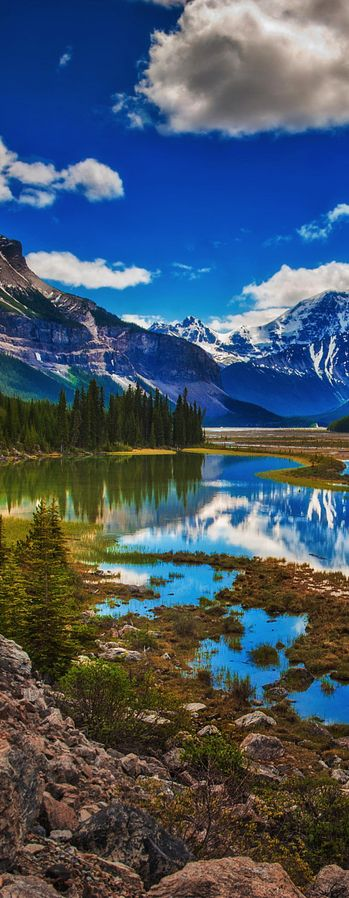 Cavell Lake, Jasper National Park, Alberta, Canada  ✈✈✈ Here is your chance to win a Free Roundtrip Ticket to anywhere in the world **GIVEAWAY** ✈✈✈ https://thedecisionmoment.com/free-roundtrip-tickets-giveaway/