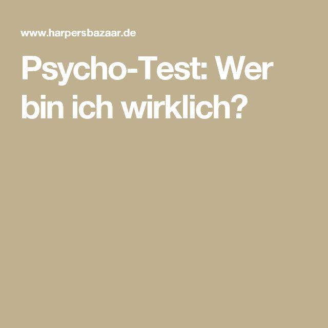 Psycho-Test: Wer bin ich wirklich?