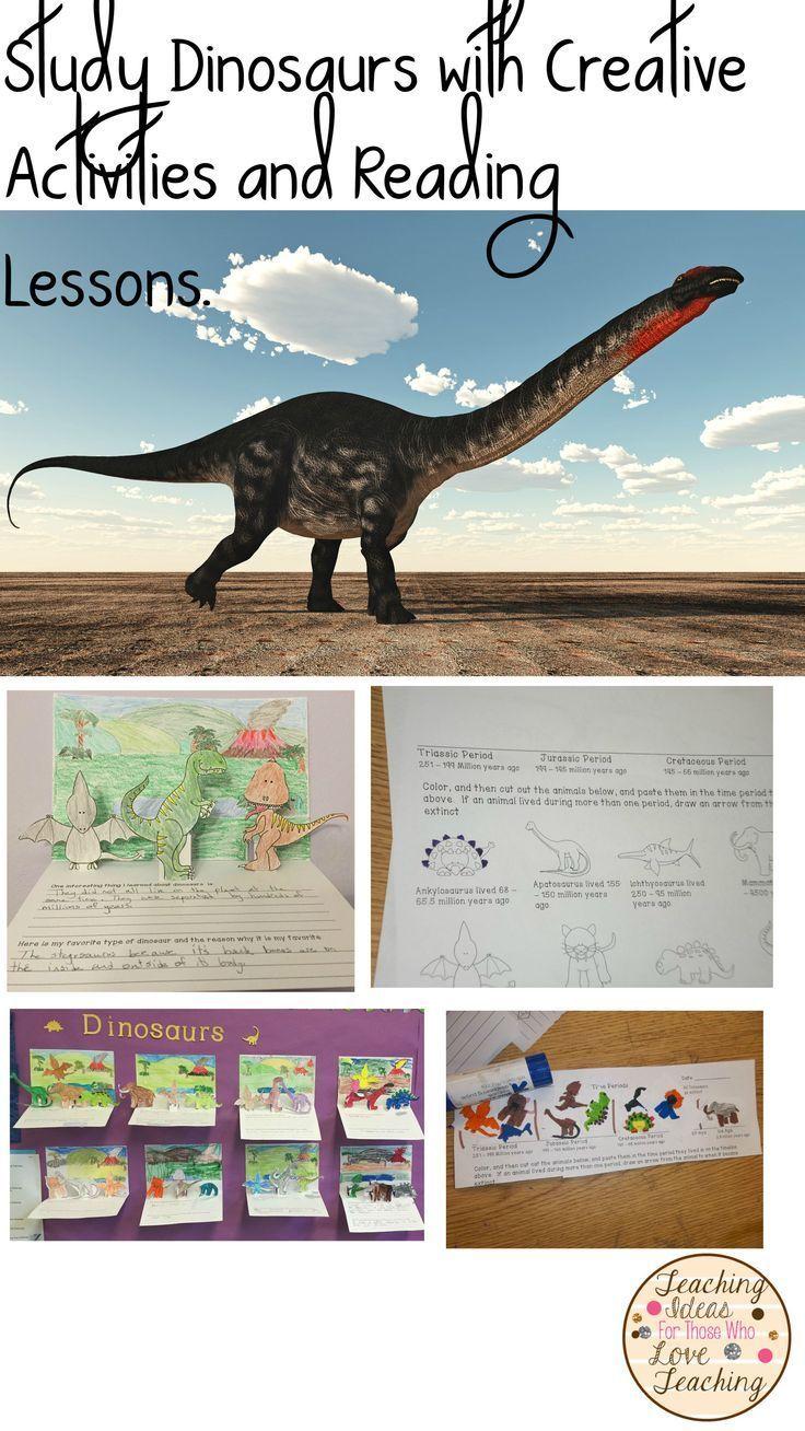 medium resolution of Fun Dinosaur unit with reading lessons