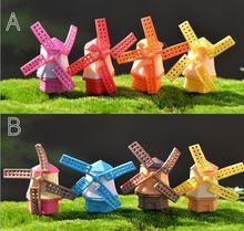 8 Pcs Resina Artesanato Casa Moinho de vento Modelo de Mini DIY Jardim de Fadas Miniaturas Casa/Suculentas/Musgo Micro Paisagem Decoração(China (Mainland))