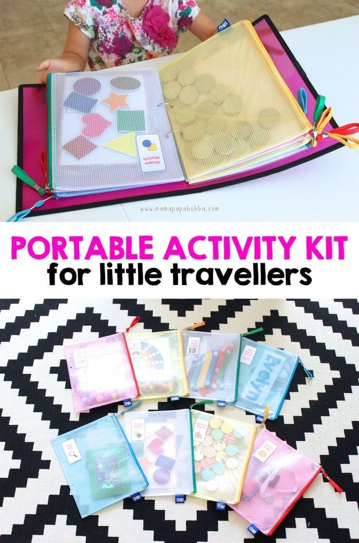 protable activity kit for little travellers