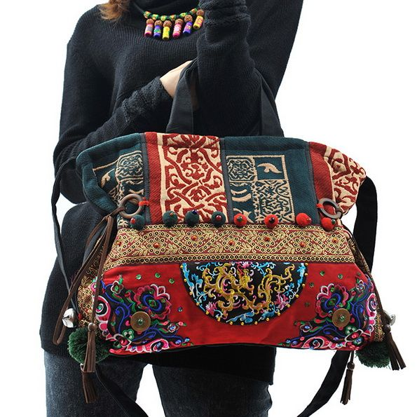 Aliexpress.com : Buy Trend chinese style embroidery hot fixed shoulder handbag cross body bag embroidered canvas bag travel backpack from Re...