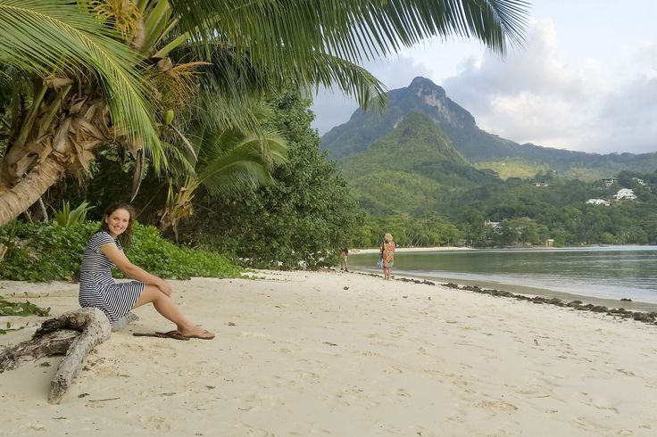 Carlien relaxes on the beach at Constance Ephelia on Mahe Island. #Africa #Seychelles #island