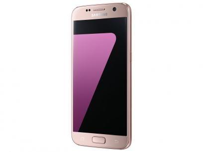 Smartphone Samsung Galaxy S7 Flat 32GB Rosê - 4G Câm. 12MP + Selfie 5MP Tela…