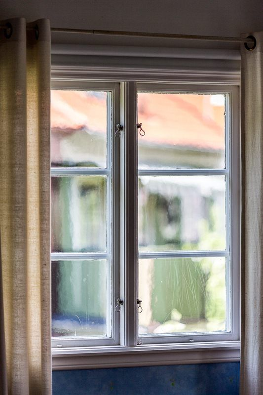 Original fönster handblåst glas
