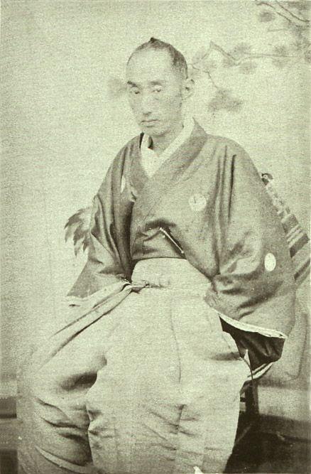 Japanese antique photograph. Matsudaira Katamori (1836-1893). He was a Daimyo, and the 9th and last Chief of the Aizu Clan of Bakumatsu. Edo era / Meiji era.