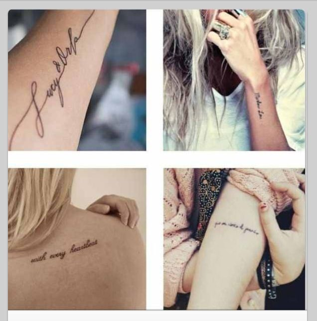 Awesome tattoos, beautiful fonts. starting to plan my next one already :D