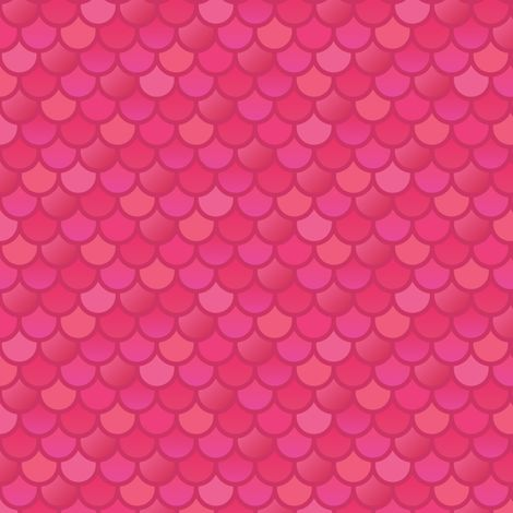 Mermaid fish scales in pink fabric by little fish on for Fish scale fabric