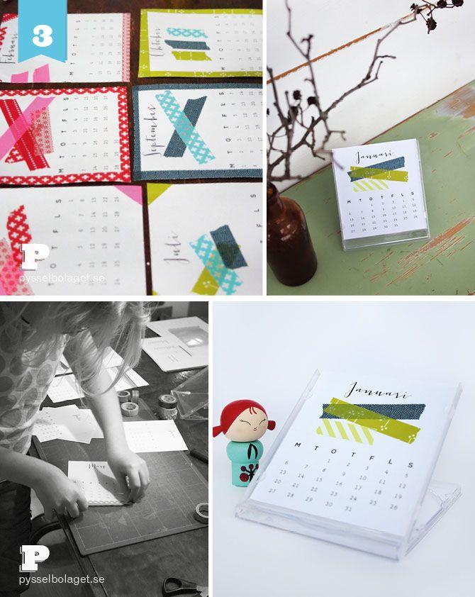 Washi tape a calendar