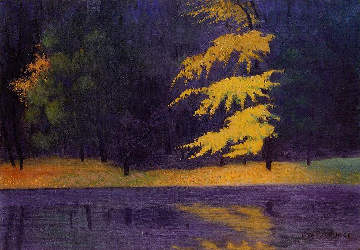 The Lake in the Bois de Boulogne - Felix Vallotton , 1921