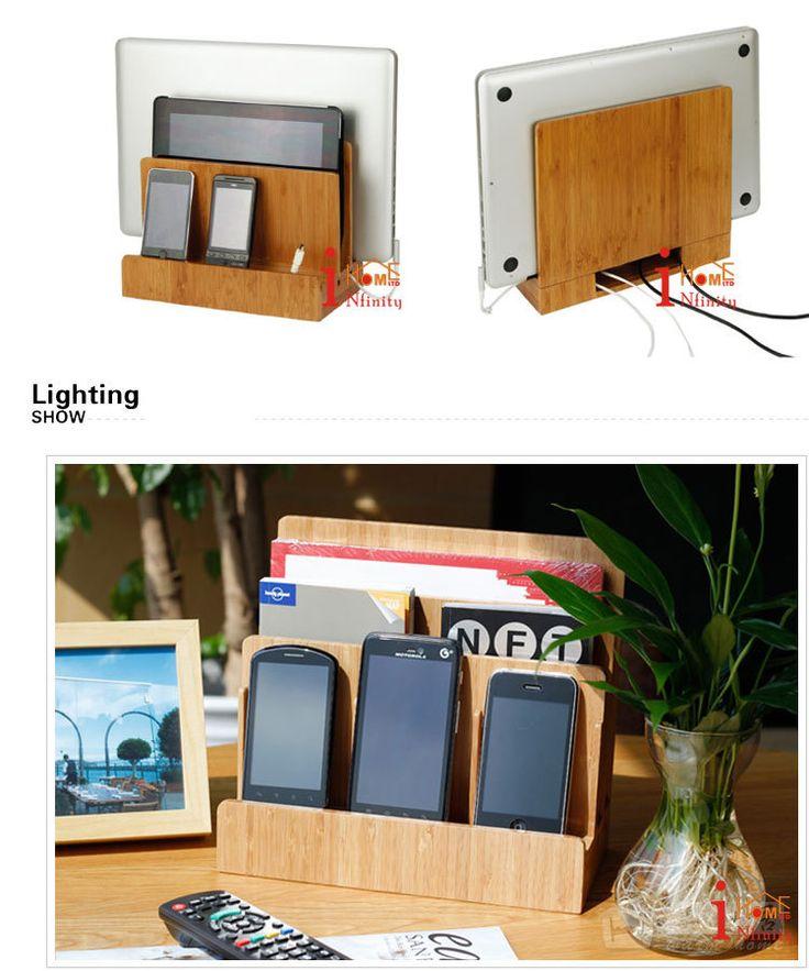 Bureau en cuir PU voiturier cellulaire téléphone Mobile Station de recharge pour tablette portable