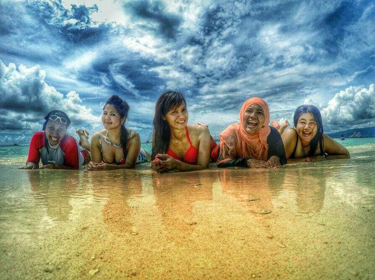 Friendship, beach, island, indonesia