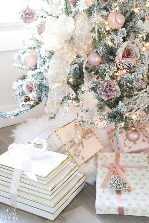 Use White Fabric For A Tree Skirt For Making It Look As A