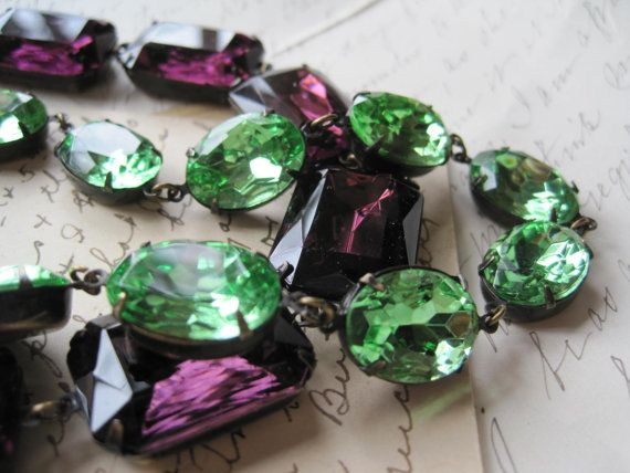 Peridot french vintage pale green Anna Wintour oval by SacredCake, $76.50