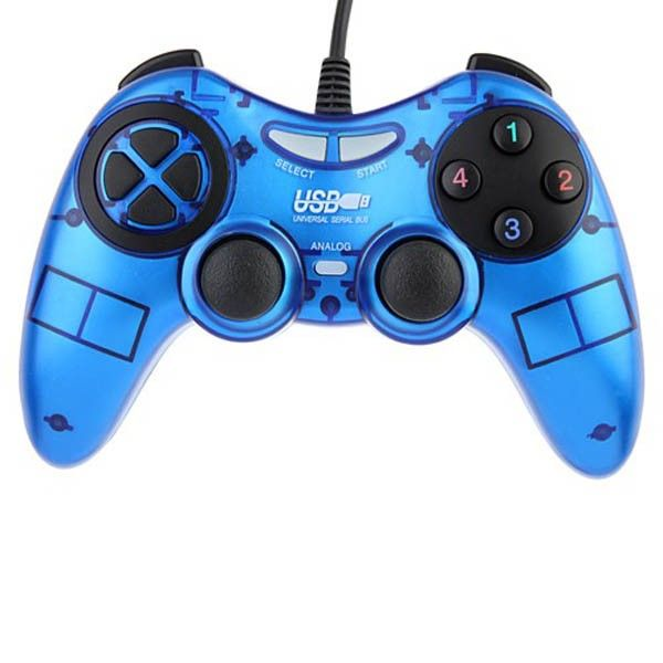 USB PC Dual Shock Game Controller Joypad Blue -  Aulola Online Store $9.62