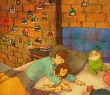 Inspiring image animation, anime, art, boy, couple, drawing, girl, illustration, love, sleep, aki chan, puuung, love is in small things #2860153 by Bobbym - Resolution 896x1106px - Find the image to your taste
