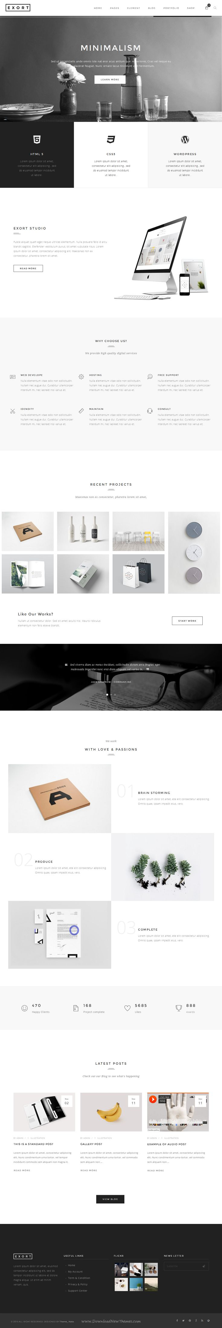 Exort is a Clean & Creative responsive multipurpose bootstrap template, it is a perfect choice for any type of site like design agency, corporate, restaurant, personal, showcase, blog, magazine, apps gallery, portfolio, eCommerce, product & etc Download Now➝ http://themeforest.net/item/exort-responsive-multipurpose-html-template/15869946?ref=Datasata