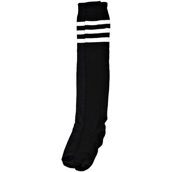 Boohoo Catherine Stripe Top Knee High Socks ($8) ❤ liked on Polyvore featuring intimates, hosiery, socks, accessories, glitter hosiery, striped knee socks, knee hi socks, glitter socks and knee-high socks