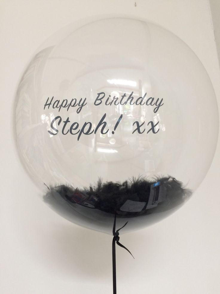A personal favourite from my Etsy shop https://www.etsy.com/au/listing/492950247/personalised-feather-filled-balloon-in-a