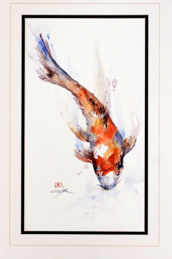Best 25 watercolor koi ideas on pinterest koi koi carp for Koi fish art paintings
