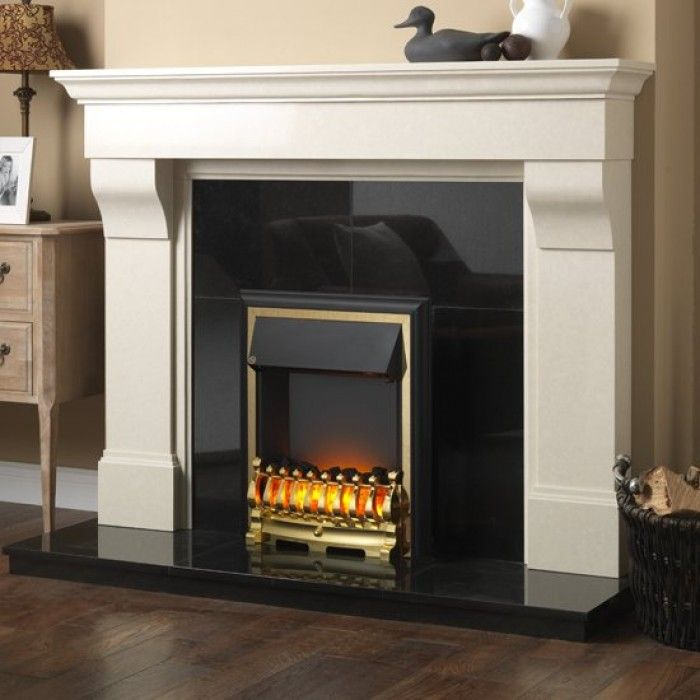 Good Electric Fire And Surround Part - 12: Http://www.gr8fires.co.uk/ezee-glow-. Electric FiresFireplace Surrounds RemoteGlowFireplacesBrass