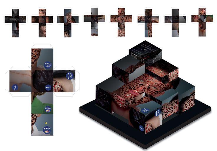 Isometria de Calendario - Marca Nivea - Referencia Anuncios Publicitarios               -  Adobe Photoshop