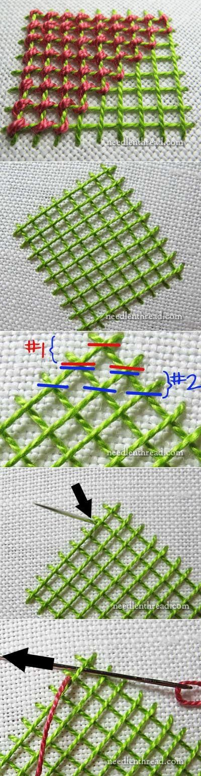 ч.1 Stitch Fun! How to Lace Lattice Stitches – Needle'nThread.com