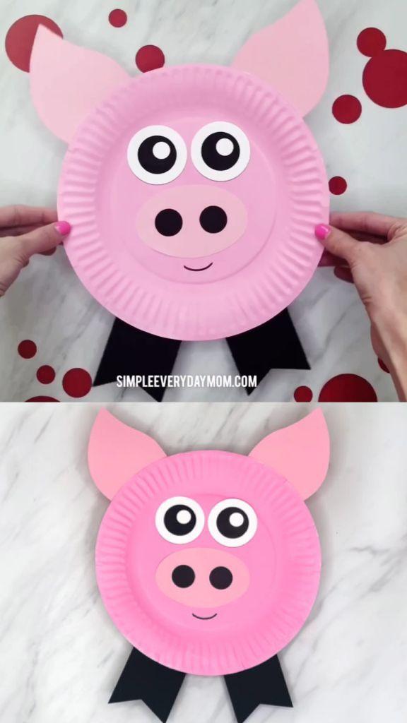 Paper Plate Pig Craft For Kids | Pig crafts, Preschool crafts ...