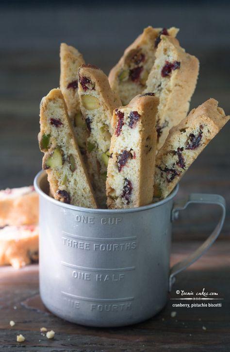 Cranberry, Pistachio Biscotti (Cantuccini) recipe
