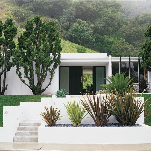Midcentury Comeback With Perfect Minimalist Landscaping Modern Landscaping Modern Exterior Backyard