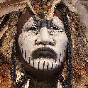 Native American Indian Crow Dog Spirit Mask