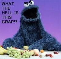 Grumpy?Health Food, Cookie Monster, Fruit, Cookies Monsters, Healthy Eating, Funny Stuff, Michele Obama, Eating Healthy, Healthy Food