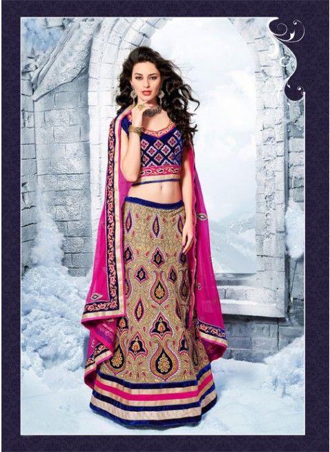 Tranquil Beige Color Faux Georgette Bases #Lehenga #Choli #bridallehenga #ethnicwear #womenfashion #clothing #fashion