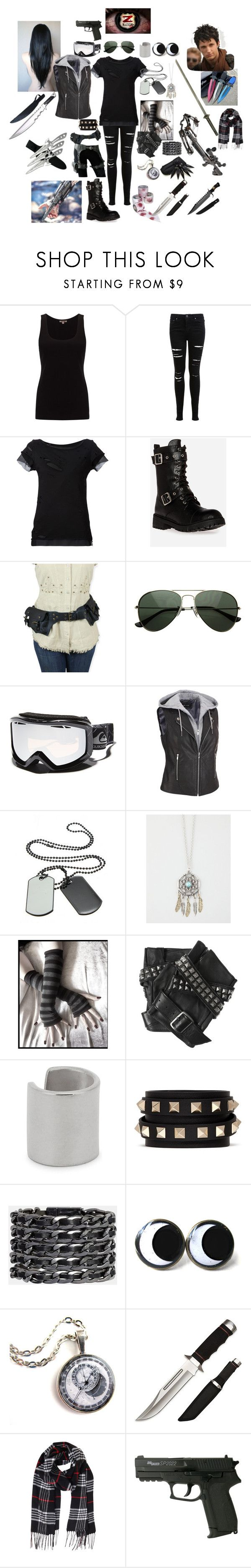 """""""Z Nation-season 2"""" by dark15dragon ❤ liked on Polyvore featuring Jigsaw, Miss Selfridge, Vivienne Westwood Anglomania, Chinese Laundry, Quiksilver, Full Tilt, Karl Lagerfeld, Maya Magal, Valentino and Cara Accessories"""