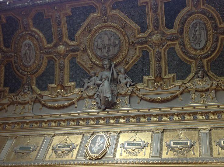 Detalle del techo en el Museo de Louvre