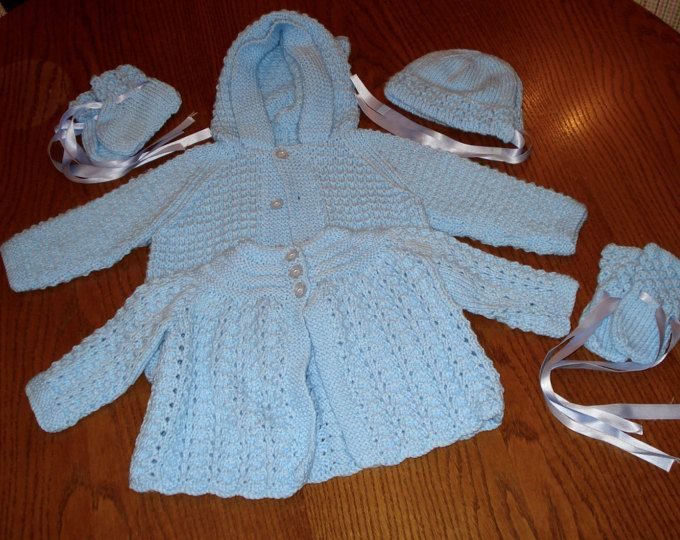 REDUCED Baby's hand knitted matinee set