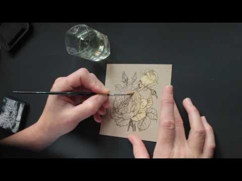 stamping video: Bleached out Images ... Bianca shows how to make a bleached image for a card ...