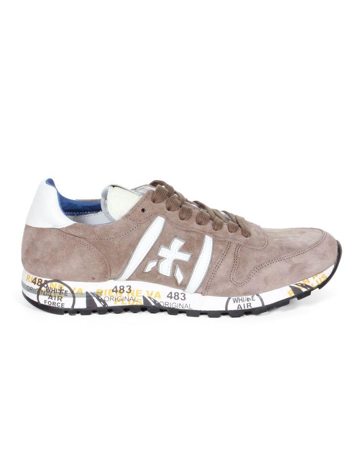 PREMIATA White Eric Men's Nubuck Sneakers - Beige - serie     NOIRE