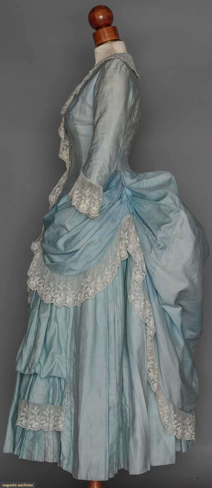 Two Young Ladies' Bustle Dresses, 1880, Augusta Auctions, November 11, 2015 NYC