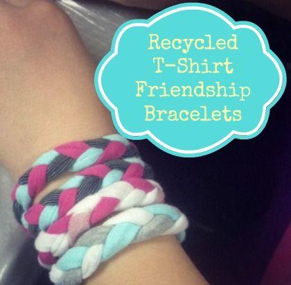 WeeWork Kids Craft: Recycled T-Shirt Friendship Bracelets