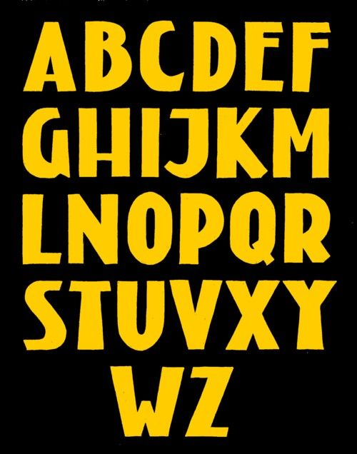 Alafabet the was inspired by the lettering used on buildings by architects of the Amsterdamse School.