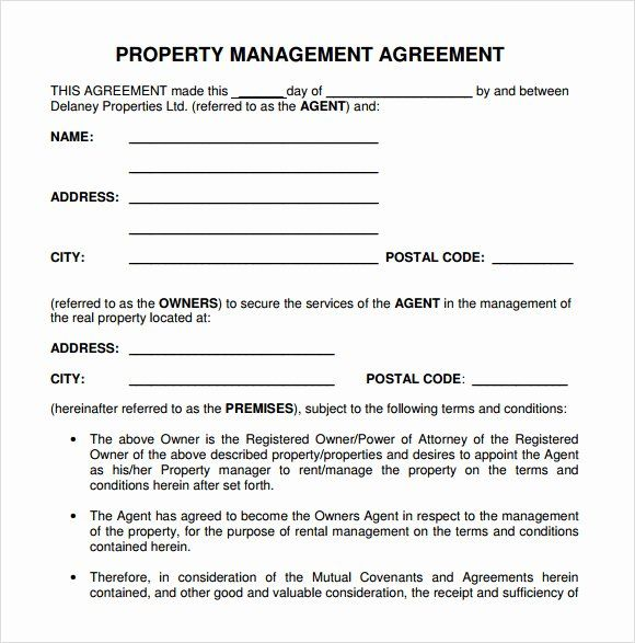 Property Management Forms Templates In 2020 Contract Template