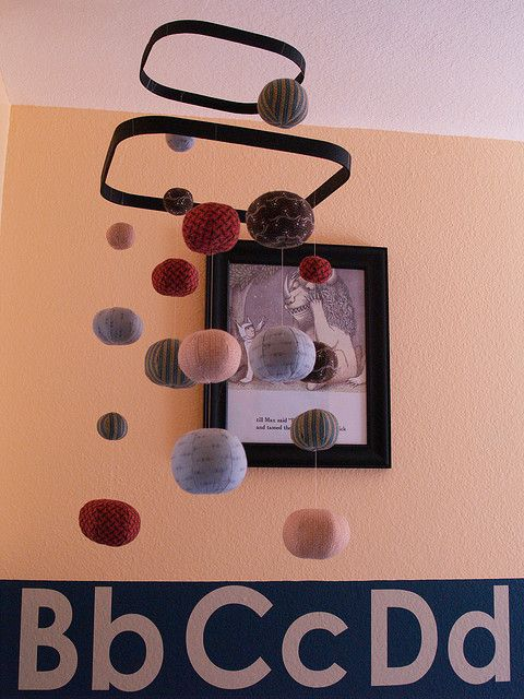 Make it with soccer balls!  homemade mobile by reesedixon, via Flickr